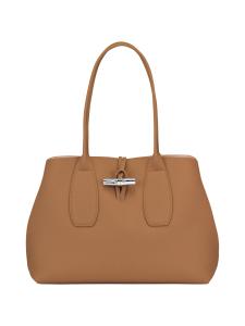 Longchamp - Roseau Shoulder Bag - Nahkalaukku - NATURAL | Stockmann
