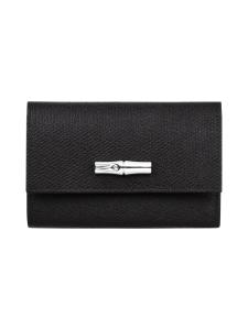 Longchamp - ROSEAU - COMPACT WALLET - NAHKALOMPAKKO - BLACK | Stockmann