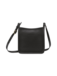 Longchamp - LE FOULONNÉ - ZIPPED CROSSBODY BAG S - NAHKALAUKKU - BLACK | Stockmann