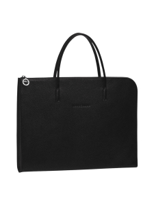 Longchamp - Le Foulonné Document Holder - Salkku - BLACK | Stockmann