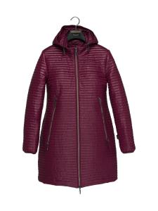BELIEVE by tuula rossi - DAWN HOOD Purple Mini Stripe Tikattu Takki - PURPLE, PURPPURAN PUNAINEN | Stockmann