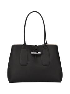 Longchamp - Roseau Shoulder Bag - Nahkalaukku - BLACK | Stockmann