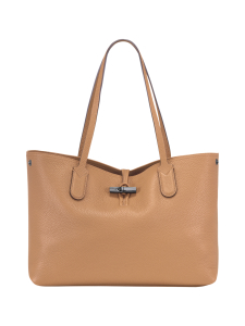 Longchamp - Roseau Essential - Shoulder Bag M - Nahkalaukku - NATURAL   Stockmann