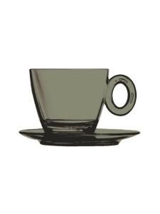 Mepra - Policarbonato-kahvikuppi ja aluslautanen - ONYX | Stockmann