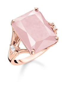 Thomas Sabo - Thomas Sabo Ring Large Pink Stone With Star -sormus | Stockmann