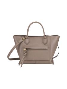 Longchamp - Mailbox Top Handle Bag M - Nahkalaukku - TAUPE | Stockmann
