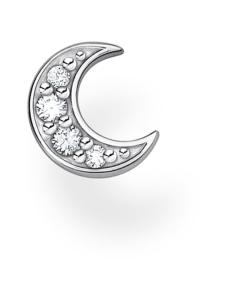Thomas Sabo - Thomas Sabo Single Ear Stud Moon Pavé Silver -korvakoru | Stockmann