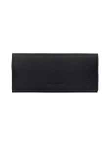 Longchamp - Le Foulonné – Long Continental Wallet – Nahkalompakko - BLACK | Stockmann