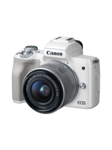 Canon - Canon EOS M50 + EF-M 15-45mm IS STM Kit - Valkoinen | Stockmann