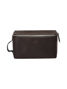 MMV Bags - Luton Leather Washbag -toilettilaukku - CHOCOLATE (TUMMANRUSKEA) | Stockmann