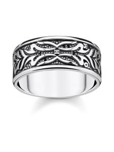 Thomas Sabo - Thomas Sabo Ring Black Tiger Pattern -sormus | Stockmann