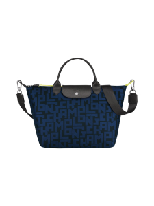 Longchamp - Le Pliage LGP Top Handle Bag M - Käsilaukku - BLACK/NAVY | Stockmann