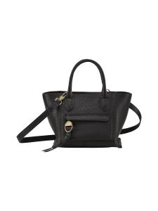 Longchamp - Mailbox Top Handle Bag S - Nahkalaukku - BLACK | Stockmann