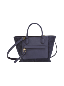 Longchamp - MAILBOX SOFT - TOP HANDLE BAG M - NAHKALAUKKU - NAVY | Stockmann