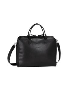 Longchamp - Le Foulonné - Briefcase M - Salkku - BLACK | Stockmann