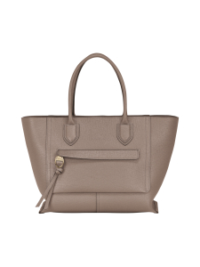Longchamp - Mailbox Top Handle Bag L - Nahkalaukku - TAUPE | Stockmann