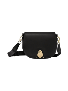 Longchamp - Cavalcade Crossbody Bag - Nahkalaukku - BLACK | Stockmann