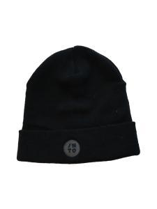 INTO Scandinavian Clothing - Black round beanie - MUSTA   Stockmann