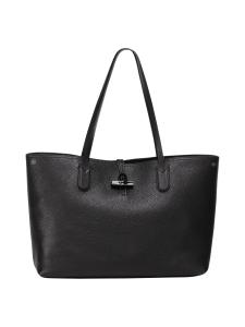 Longchamp - Roseau Essential - Shoulder Bag L - Nahkalaukku - BLACK   Stockmann