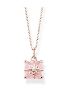 Thomas Sabo - Thomas Sabo Necklace Pink Stone With Star -kaulakoru | Stockmann