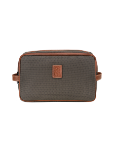 Longchamp - Boxford - Toiletry Case - Toilettilaukku - BROWN | Stockmann