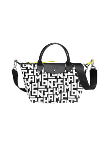 Longchamp - Le Pliage LGP Top Handle Bag S - Käsilaukku - BLACK/WHITE | Stockmann