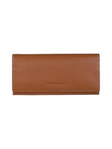 Longchamp - Le Foulonné – Long Continental Wallet – Nahkalompakko - CARAMEL | Stockmann