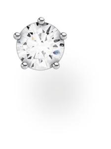 Thomas Sabo - Thomas Sabo Single Ear Stud White Stone Small Silver -korvakoru | Stockmann