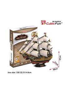 Cubic Fun - CUBICFUN 3D palapeli Purjealus Victoria   Stockmann