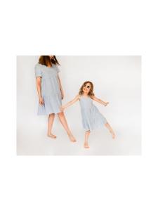 Nakoa - Lasten kerrosmekko, Dusty Blue - DUSTY BLUE (VAALEANSININEN) | Stockmann