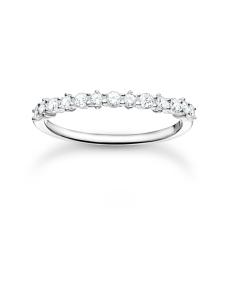 Thomas Sabo - Thomas Sabo Ring White Stones Silver -sormus | Stockmann