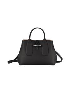 Longchamp - Roseau Top Handle Bag M - Nahkalaukku - BLACK | Stockmann