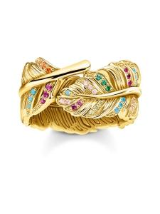 Thomas Sabo - Thomas Sabo Ring Feather Gold -sormus | Stockmann