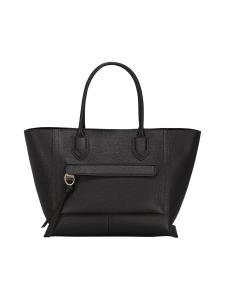 Longchamp - Mailbox Top Handle Bag L - Nahkalaukku - BLACK | Stockmann