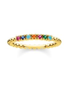 Thomas Sabo - Thomas Sabo Ring Dots Colourful Stones Gold -sormus | Stockmann