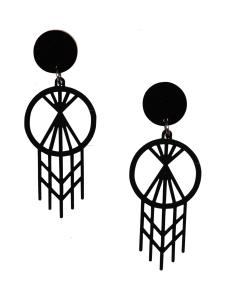 YO ZEN - Macrame Sphere -nappikorvakorut, musta - MUSTA   Stockmann