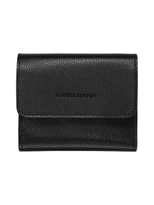 Longchamp - Le Foulonné – Compact Wallet – Nahkalompakko - BLACK | Stockmann