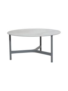 Cane-Line - Twist -sohvapöytä 90 halk x 45 cm - VAALEA HARMAA, FOSSIL GREY KUVIOITU HARMAA | Stockmann