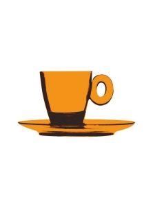 Mepra - Policarbonato-espressokuppi ja aluslautanen - AMBER | Stockmann