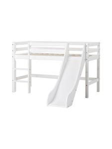 Hoppekids - Hoppekids BASIC puolikorkea sänky 70x160cm liukumäellä, valkoinen | Stockmann
