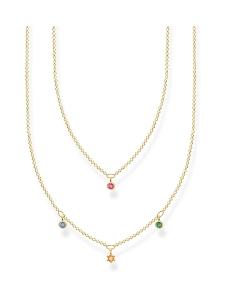 Thomas Sabo - Thomas Sabo Double Coloured Stones Gold -kaulakoru | Stockmann