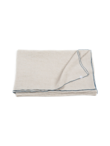 Gauhar Helsinki - Blue Stitching-pellavainen pöytäliina 180 cm x 250 cm - BEIGE | Stockmann