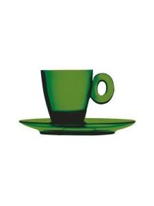 Mepra - Policarbonato-espressokuppi ja aluslautanen - EMERALD | Stockmann