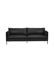HT Collection - Nordic -nahkasohva, 210 cm - MUSTA | Stockmann