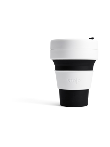 Stojo - Pocket Cup -kestokuppi 355 ml - MUSTA | Stockmann