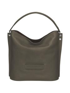 Longchamp - Longchamp 3D Hobo Bag - Nahkalaukku - KHAKI | Stockmann
