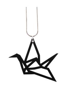YO ZEN - Origami Swan -kaulakoru, musta - MUSTA | Stockmann