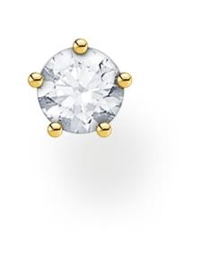 Thomas Sabo - Thomas Sabo Single Ear Stud White Stones Gold -korvakoru | Stockmann