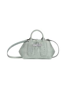 Longchamp - Roseau Croco - Top handle bag XS - Nahkalaukku - JADE | Stockmann