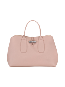 Longchamp - Roseau Top Handle Bag L - Nahkalaukku - POWDER | Stockmann